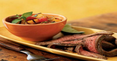Flank Steak with Mango Chutney