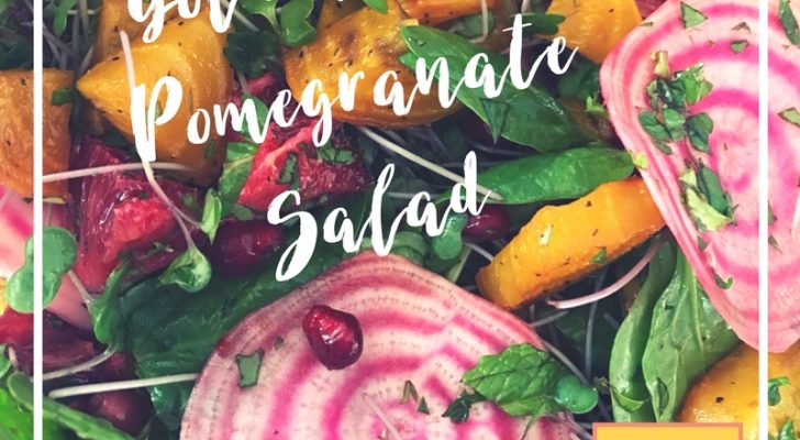 Golden Beet & Pomegranate Salad