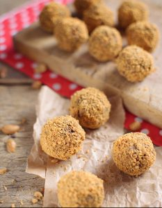 Honey Peanut Butter Crunch Balls with Chia Seeds