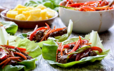 Korean BBQ Duck Lettuce Cups