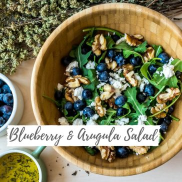 Blueberry & Arugula Salad