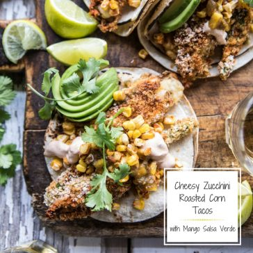 Cheesy Zucchini Blossom Tacos