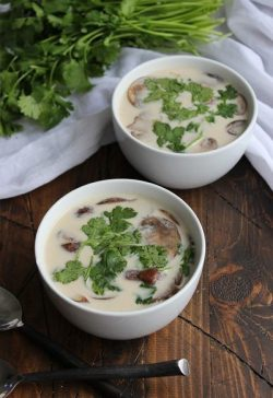 Thai Coconut Mushroom Soup