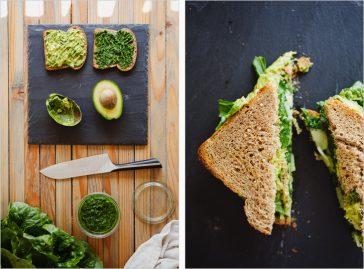 Avocado Sandwich with Green Harissa