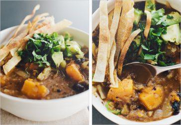 Black Bean & Butternut Squash Soup