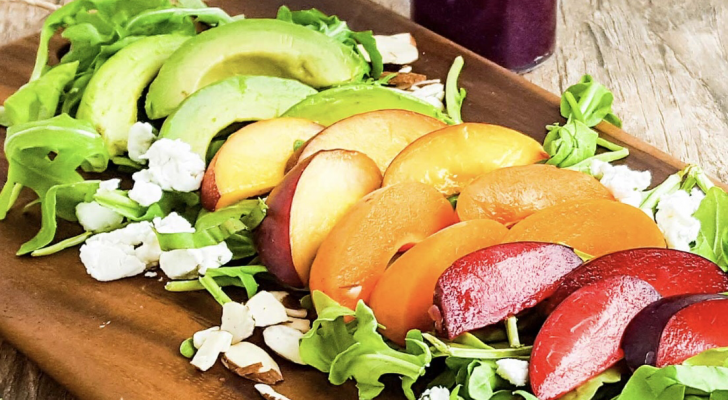 Stone Fruit Salad with Blackberry Dressing