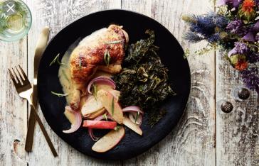 Cider Braised Chicken & Kale