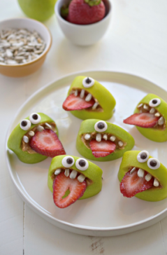 Halloween Monster Apple Bites