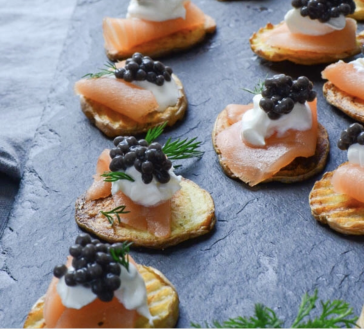 Smoked Salmon & Caviar on Crispy Potatoes