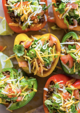 Healthy Bell Pepper Tacos