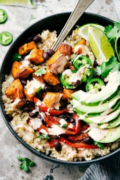 Sweet Potato, Black Bean Burrito Bowl