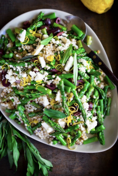 Spring Asparagus Salad with Israeli Cous Cous