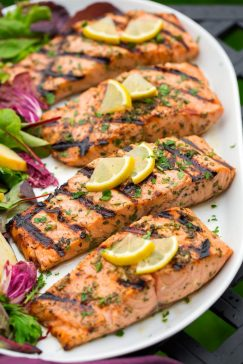 Grilled Garlic Herb Salmon