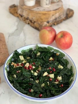 Massaged Kale Salad - with Pomegranate & Apple