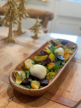 Roasted Rainbow Beets & Burrata Salad