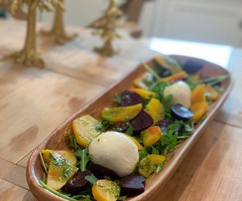 Roasted Rainbow Beets & Burrata Salad