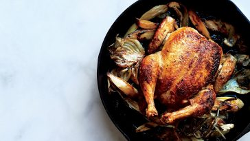 Skillet Roasted Chicken - with Fennel, Parsnips & Scallions