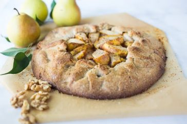 National Pie Day! Rustic Pear Galette with Walnut Crust