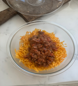 Butternut Squash Noodles with Meat Sauce